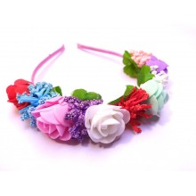Colourful Rose Tiara Hairband