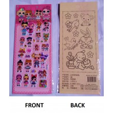 LOL Girls Sticker with Colouring Sheet