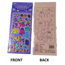 Sticker with Colouring Sheet-Space Theme