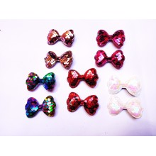 Sequin Hair Clip -  Bow