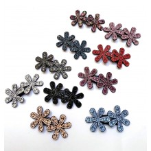 Stone Hair Clip-Flowers