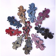 Stone Hair Clip-Butterfly