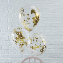 White Confetti Balloon