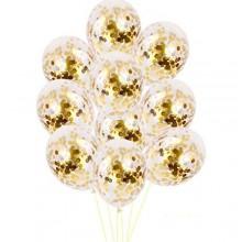 White Confetti Balloon-Set of 10