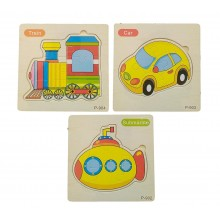 Wooden Jigsaw Puzzle Vehicles