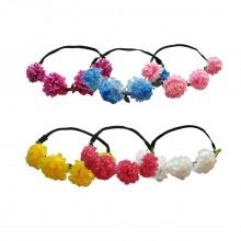 4 Flower Tiara Headband