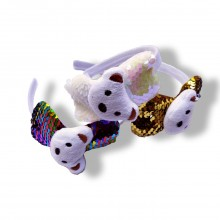 Sequin Head Band - Cute Puppy