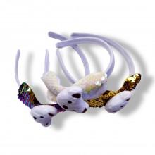 Sequin Head Band - Cute Teddy