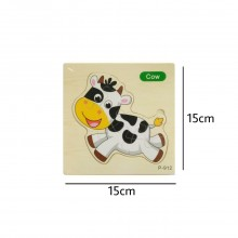 Cow Wooden Jigsaw Puzzle