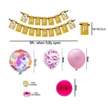 Unicorn Party Supply Combo (27 Pieces)