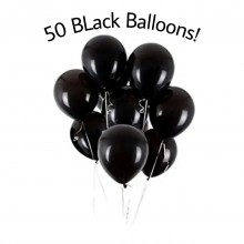 50 pieces Black Balloons Large