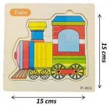 Wooden Jigsaw Puzzle-Train