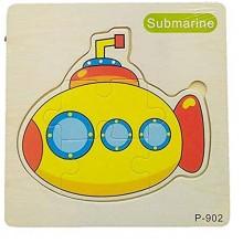 Wooden Jigsaw Puzzle-Submarine