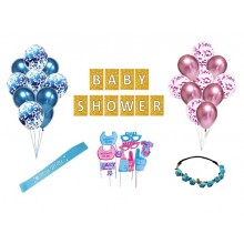 Baby Shower Party Supply Combo (34 Pieces)
