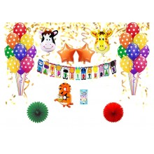 Animal Theme Number Party Decor Combo