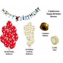 Spiderman Party Supply Combo (33 Pieces)
