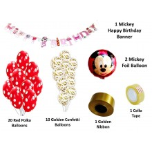 Mickey Party Supply Combo (35 Pieces)