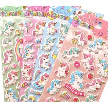 Unicorn Stickers with Colouring Sheet