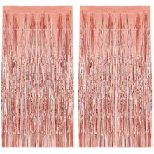Rose Gold Foil Curtain (Set of 2)