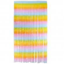 Rainbow Foil Curtain (Set of 2)