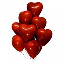 Red Heart Shape Chrome Balloon (Set of 30)