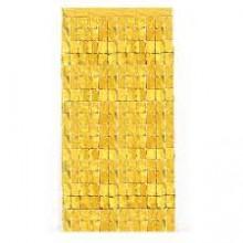 Square Foil Curtain (Gold, Set of 2)