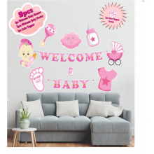 Welcome Baby 9 Pcs Set- Pink