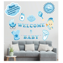 Welcome Baby 9 Pcs Set- Blue