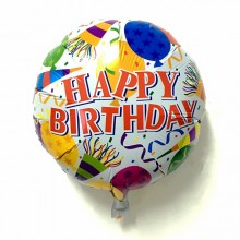 Birthday Foil Balloon - White