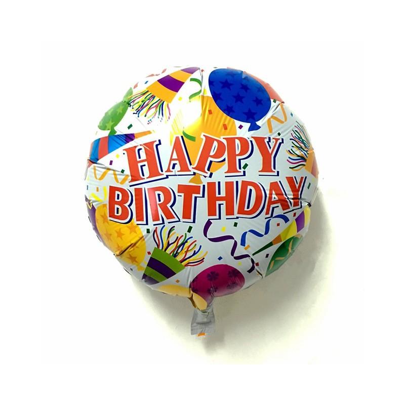 Birthday Foil Balloon - White