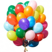 24 Multi-Colour Large Metallic Balloons