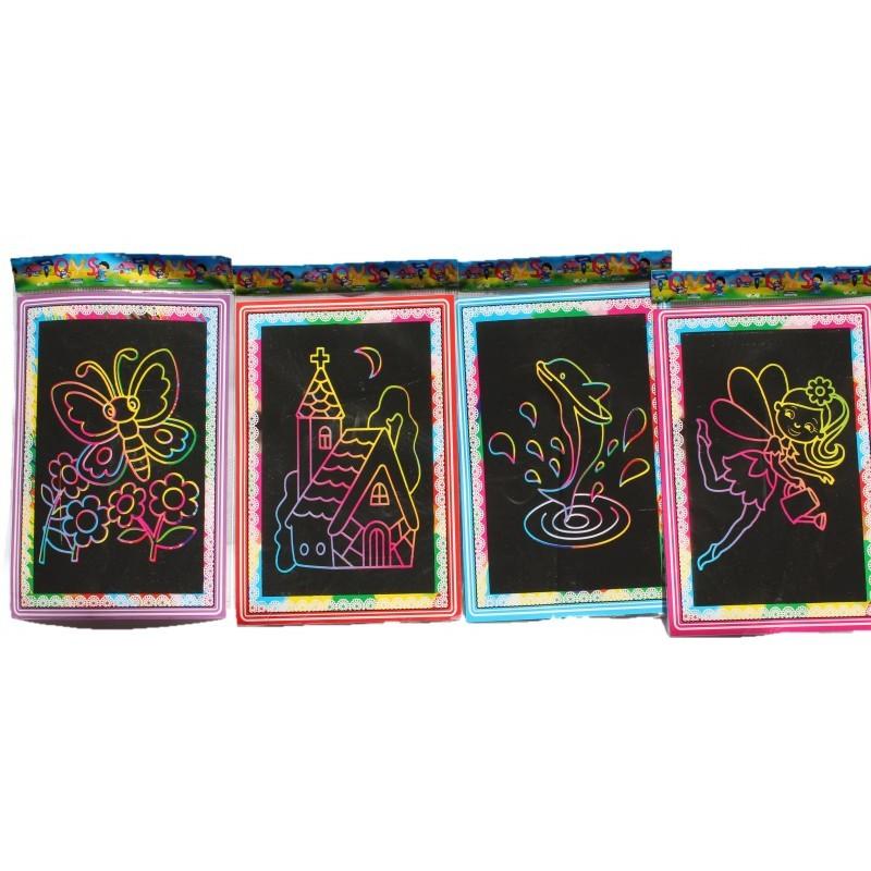 Magic Rainbow Scratch Art