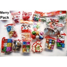 Christmas Merry Pack Decoration Set (94 Pieces Tree Decor + 1 Door Hanging Set)