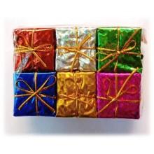 Christmas Tree Gift Box Ornaments Hanging - Set of 6