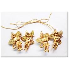 Cherub/Angel Ornaments Hanging - Set of 4