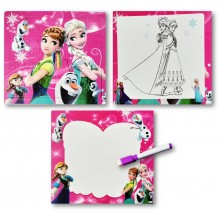 3 in 1 Writing, Puzzle & Colouring Board - Frozen Elsa