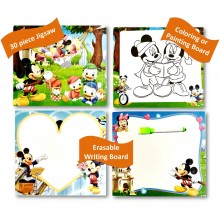 3 in 1 Writing Board Puzzle +Gift Wrap - Mickey