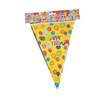 Happy Birthday Bunting- Yellow