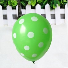 24 Green-colour Large Polka Balloons