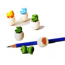 Dinosaurs inside an egg shell Eraser