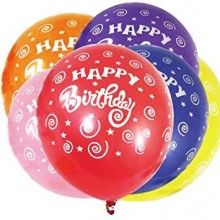 Printed Happy Birthday Balloon- Set of 25