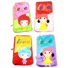 Cute Love Plush Pouch