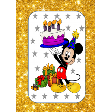 Mickey Golden Banner