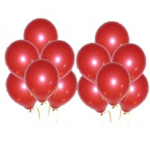 Red Metallic Balloons 25 pieces