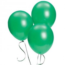 Green Metallic Balloons 20 pieces