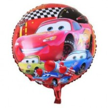 Birthday Foil Balloon Round Shape - Car