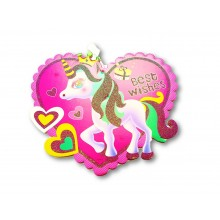 Best Wishes Unicorn Wall Hanging