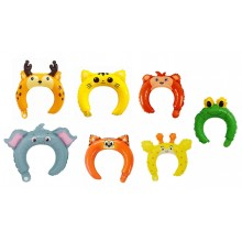 Headband Foil Balloon - Animals (Set of 10)