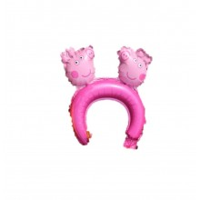 Headband Foil Balloon - Peppa Pig (Set of 10)