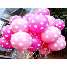 24 Pink-colour Large Polka Balloons